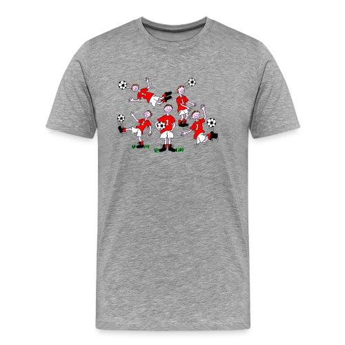 Cartoon Football Player - Men's Premium T-Shirt