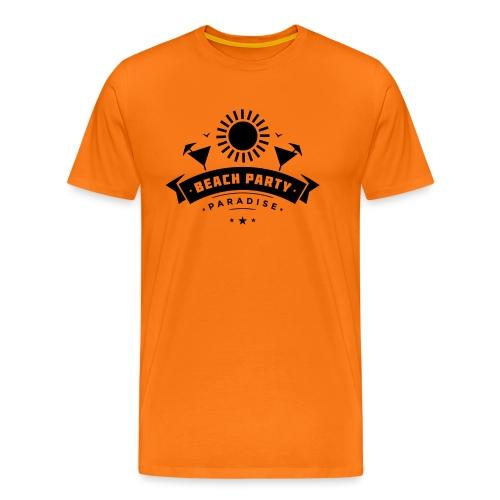 Beach party paradise - Miesten premium t-paita