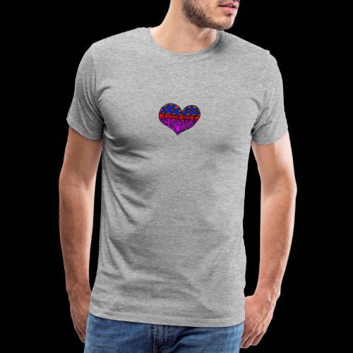 Herz Leben Welt Love you - Männer Premium T-Shirt