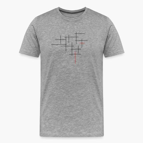 Str1ve simple lines - Mannen Premium T-shirt