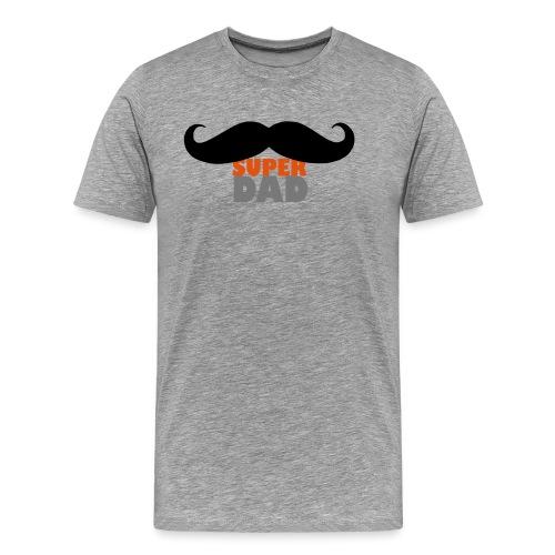 superdad moustache - Männer Premium T-Shirt