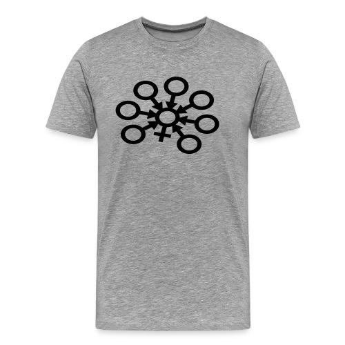 GangBang Symbol einfarbig - Männer Premium T-Shirt