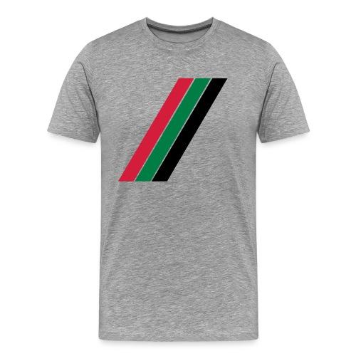 Rood groen zwarte banen - Mannen Premium T-shirt