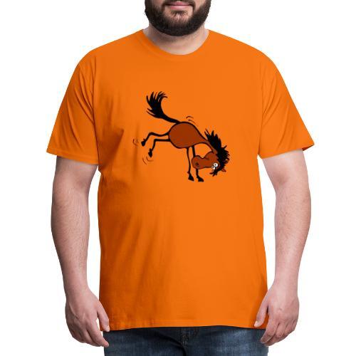 buckelndes Pferd - Männer Premium T-Shirt