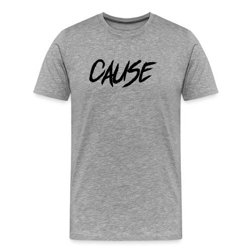Cause77 written3 Black - Mannen Premium T-shirt