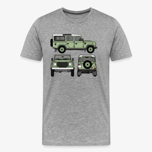 Defender 110 - Sides - Premium-T-shirt herr