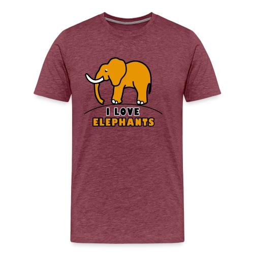 Elefant - I LOVE ELEPHANTS - Männer Premium T-Shirt
