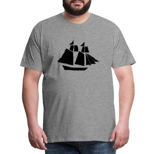black hand ship - Men's Premium T-Shirt