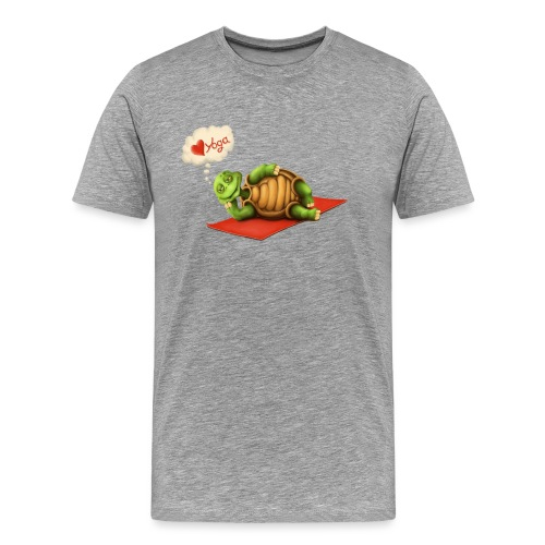 Love-Yoga Turtle - Männer Premium T-Shirt