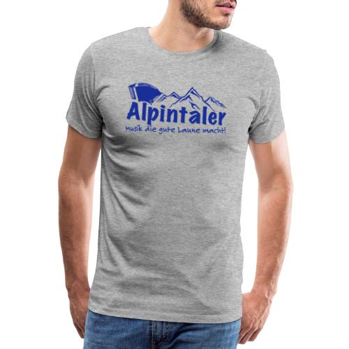 Logo dunkelblau spruch - Männer Premium T-Shirt