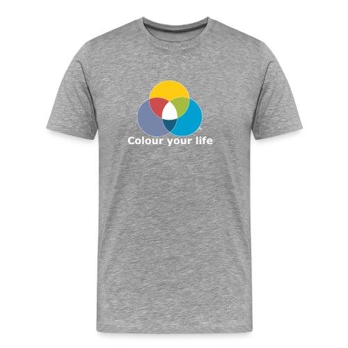 Male Dir Dein Leben bunt - Männer Premium T-Shirt