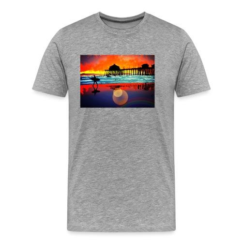 plage soleil couchant - T-shirt Premium Homme