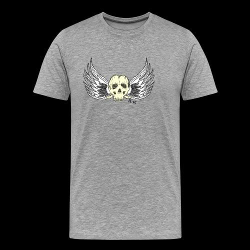 Skull 'n' Wings Color - Männer Premium T-Shirt