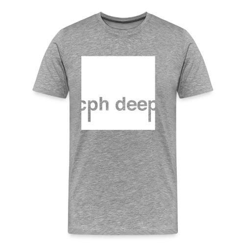 Logo All White - Herre premium T-shirt