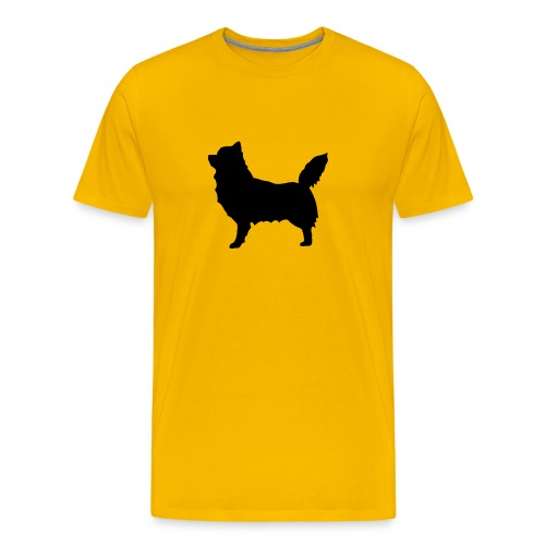 Chihuahua pitkakarva musta - Miesten premium t-paita