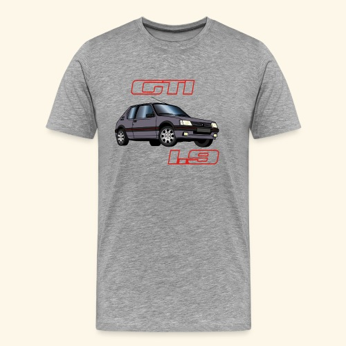 205 GTI 1,9 91 92 93 Gris Magnum - T-shirt Premium Homme