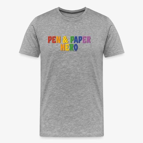 Pen & Paper Hero Pride (Rainbow) - Men's Premium T-Shirt
