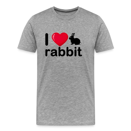 Zu nett Kaninchen i love black rabbit - Männer Premium T-Shirt