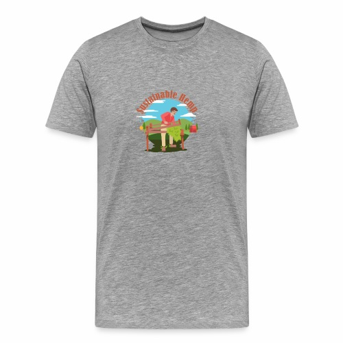 Cáñamo Sustentable en Inglés (Sustainable Hemp) - Camiseta premium hombre