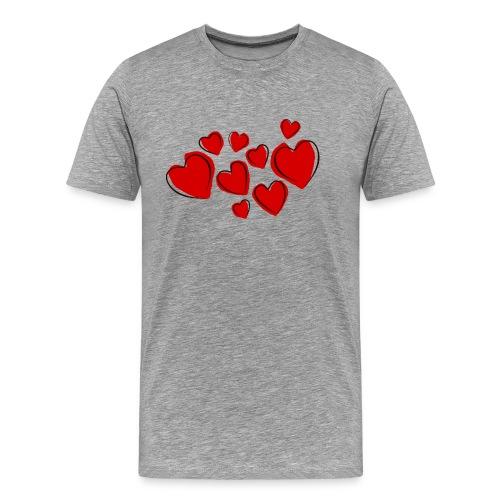 hearts herzen - Männer Premium T-Shirt