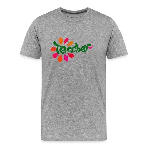 Teacher Flower - Men's Premium T-Shirt