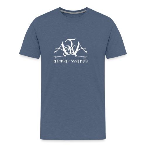 atma wares logo white - Mannen Premium T-shirt