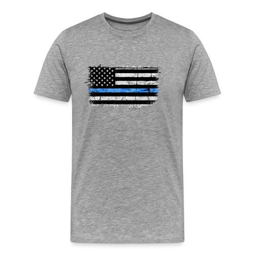 police back the blue flag - Camiseta premium hombre