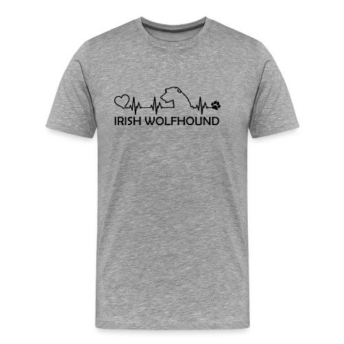 IRISH WOLFHOUND Heartbeat - Männer Premium T-Shirt