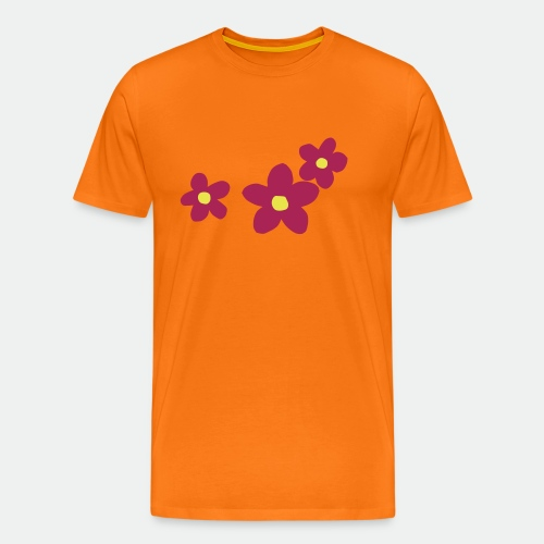 Three Flowers - Men's Premium T-Shirt
