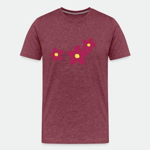 Three Flowers - Men's Premium T-Shirt