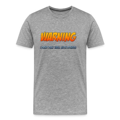 warning - Herre premium T-shirt