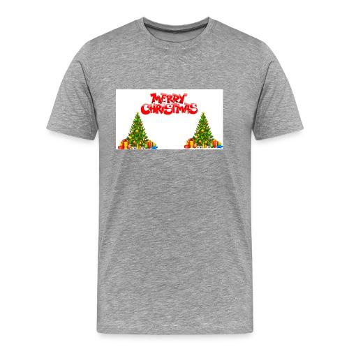 Merrry Christmas (Jule Logo!) - Premium T-skjorte for menn