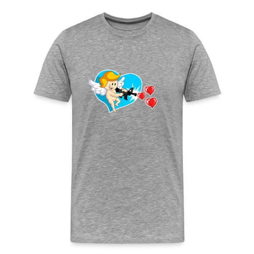 Kawaii Angel con ametralladora de corazón - Camiseta premium hombre
