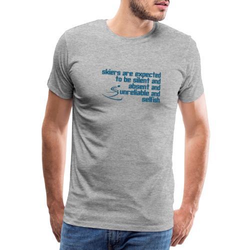 Unreliable Skiers - Men's Premium T-Shirt
