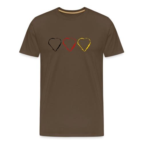 3 Herzen Deutschland #1 - Männer Premium T-Shirt