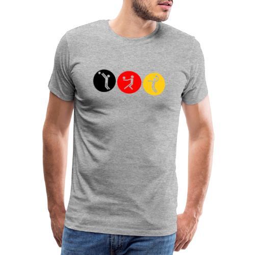 Volleyball symbole tricolor - Männer Premium T-Shirt