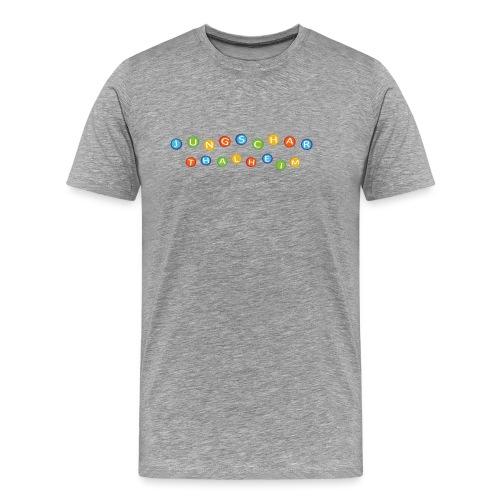Jungscharlogo Bunt Querformat - Männer Premium T-Shirt