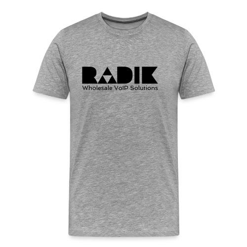 radik logo 1kleur wholesalevoipsolutions - Mannen Premium T-shirt
