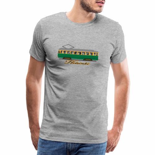 HELSINKI RATIKKA T-PAIDAT, HUPPARIT JA LAHJAT - Miesten premium t-paita
