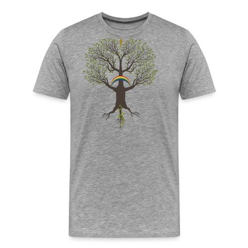 Yggdrasil mörk - Premium-T-shirt herr