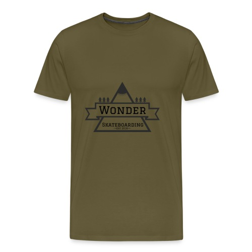 Wonder hoodie no hat - Mountain logo - Herre premium T-shirt