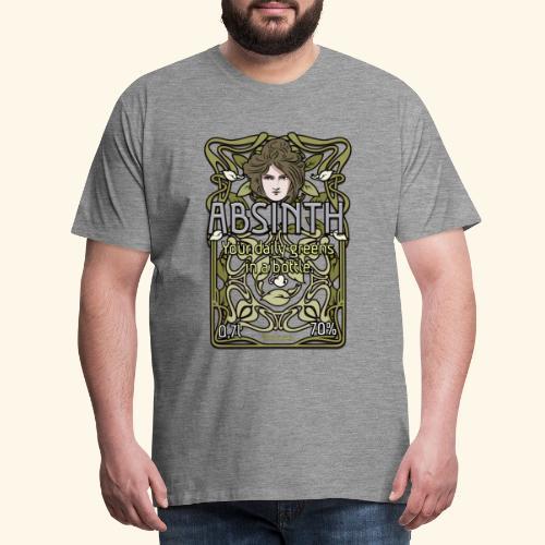 Absinth Your Daily Greens in a Bottle Art Nouveau - Männer Premium T-Shirt