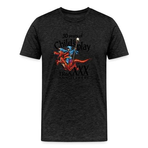 TRoA 30 år - Sort skrift - Herre premium T-shirt