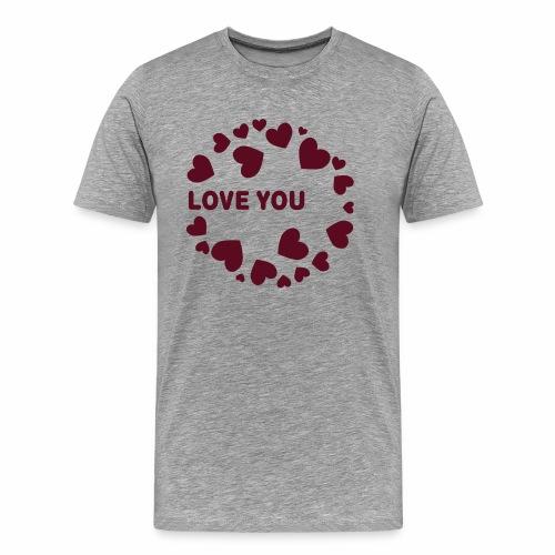 Herzen LOVE YOU - Männer Premium T-Shirt
