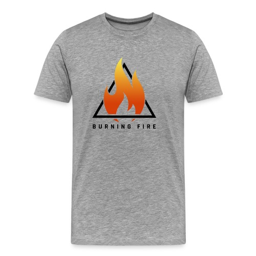 BURNING FIRE Logo - Herre premium T-shirt