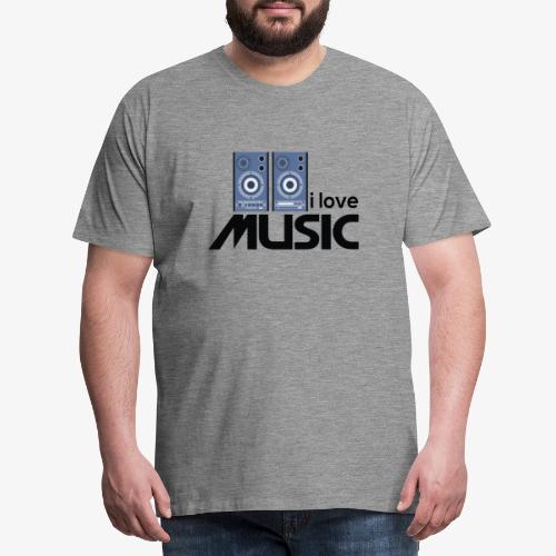Amo la música 01 - Camiseta premium hombre