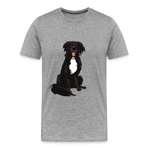border collie illustratie - Mannen Premium T-shirt