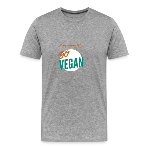 VeganforAnimals - Mannen Premium T-shirt