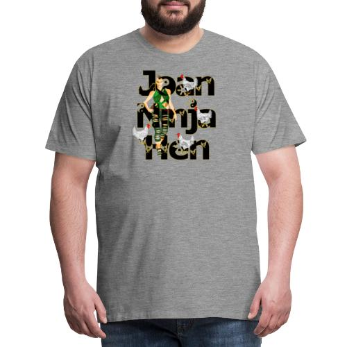 Joan Ninja Hen - Sandalen Held - Männer Premium T-Shirt