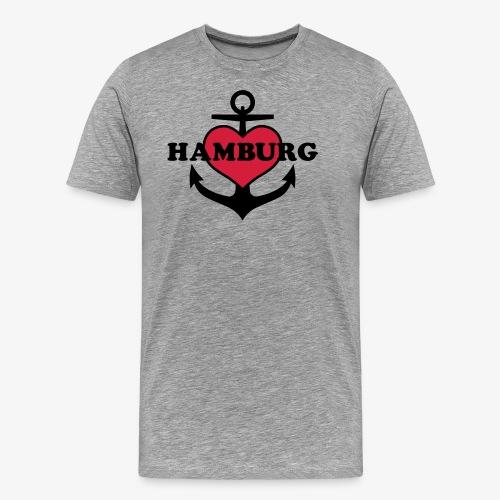 Anker Herz Hamburg Maritimes Motiv - Männer Premium T-Shirt